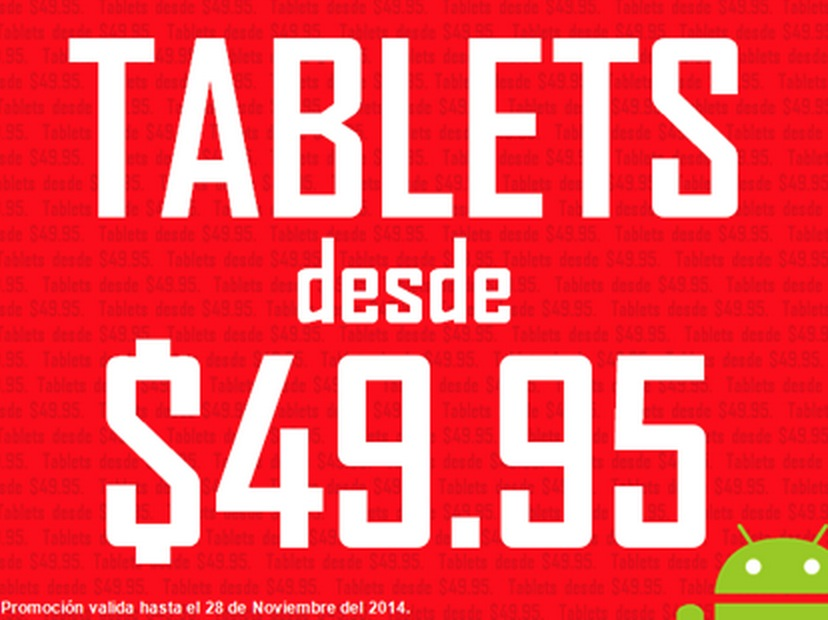 Tablets Black Friday desde $49.95 en Giga