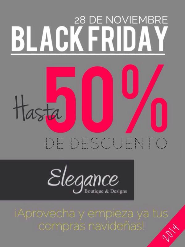 Hasta 50% OFF en el Black Friday Elegance Boutique & Designs